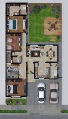 Sims House Plans, House Layout Plans, Dream House Plans, House Layouts, Best House Plans, House Floor Plans, Three Bedroom House Plan, Family House Plans, Home Design Floor Plans