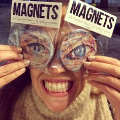EYE MAGNETS / high quality magnets Ø / small edition by the artist from the original collage artwork / ©philippe patricio / all rights reserved Collage Artwork, Magnets, Carnival, Eye, The Originals, Artist, Painting, Carnavals, Artists