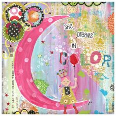 Another amazing art piece from TinkerdotDesigns by Jenni Beamer. This one absolutely must be just for my daughter. (Not really, but it could be.) It fits her to a t.
