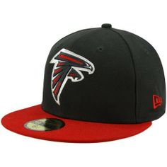 the best attitude 2e8e2 cce17 NFL Atlanta Falcons Black and Team Color 59Fifty Fitted Cap by New Era.   25.35.