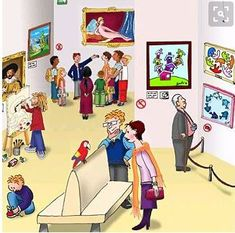 In het museum Ecole Art, Fantasy Kunst, Family Day, Wassily Kandinsky, Keith Haring, Vincent Van Gogh, Famous Artists, Art Museum, Cd Diy