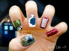 he Doctor, The Widow, And The Wardrobe - 50 Mind Blowing Designs of Nail Art  <3 <3