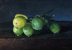 Green Grapes Final Demo of Colored Ground, painting by artist Paul Wolber