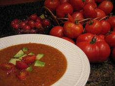 Warm up to this roasted Gazpacho,  a summer favorite with an autumn twist!  My Own Sweet Thyme: Harvest Gazpacho