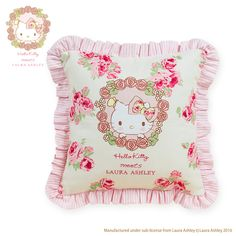 0bace0504 Hello Kitty Cushion (Hello Kitty meets LAURA ASHLEY) Sentimental Circus, Hello  Kitty Items