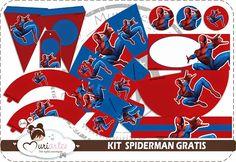 Superhero Birthday Party, 3rd Birthday Parties, Boy Birthday, Birthday Ideas, Fête Spider Man, Party Printables, Free Printables, Spiderman Theme, Oh My Fiesta