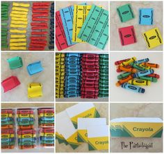 Chocolate Dipped Pretzel Crayons! w/ Crayola Topper printable & Crayola Wrapper Printable -- The Partiologist: Crazy for Crayons!