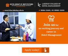 Do join Lakshay college of Hotel Management for advanced studies in Hospitality Industry. Visit: www.lchm.lakshay.edu.in or call- 98964-13400, +91-99960-51000 for more details. #LakshayCollegeofHotelManagement