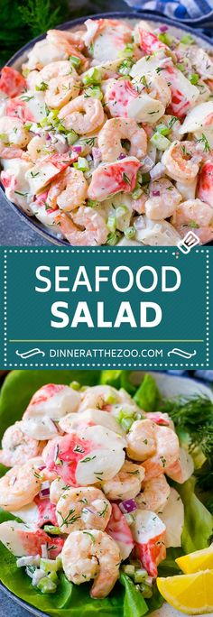 seafood-salad-recipe-shrimp-salad-recipe-crab-salad-salad-shrimp-crab-se/ - The world's most private search engine Best Seafood Recipes, Shrimp Recipes, Fish Recipes, Meat Recipes, Chicken Recipes, Sea Food Salad Recipes, Healthy Recipes, Healthy Crab Salad Recipe, Clean Eating Snacks