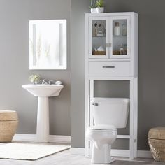 Belham Living Longbourn Over The Toilet E Saver With Removable Legs Rh150507w
