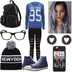 •Tres• by horanmalik on Polyvore featuring polyvore fashion style ONLY Converse Brooks Brothers Ally Fashion