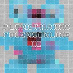 planetmaths.folensonline.ie Math Websites, Fractions, Planets, Teaching, School, Maths, Education, Onderwijs, Learning