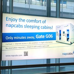 Need a nap at the Airport, go to your friendly Napcab as seen in Munich Airport.