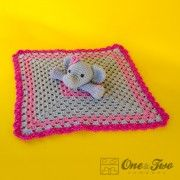 Elephant Lovey / Security Blanket PDF Crochet by oneandtwocompany Crochet Security Blanket, Lovey Blanket, Crochet Blanket Patterns, Crochet Eyes, Thread Crochet, Crochet For Kids, Crochet Baby, Crochet Elephant, Elephant Elephant