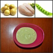 Rozmixované brambory s hráškem a kuřecími prsíčky :-)