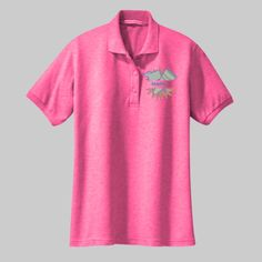 Embroidered Custom Cheerleader Ladies Silk Touch Polo