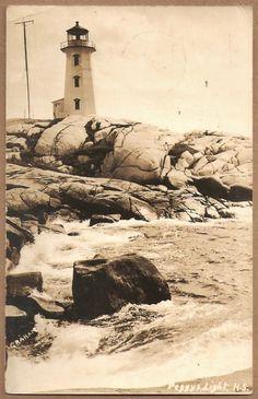 Graham RPPC 1946 Peggy'S Point Lighthouse Nova Scotia Digby NS Halifax Photo | eBay