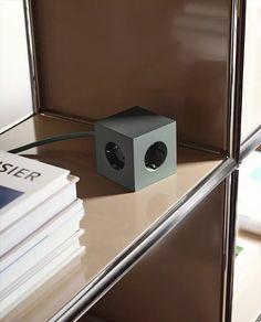 SQ1-F-USB-GR-Avolt-Square-1-Oak-Green_m Usb, Tech, Design, Electrical Outlets, Plugs, Work Desk, Colors, Ad Home