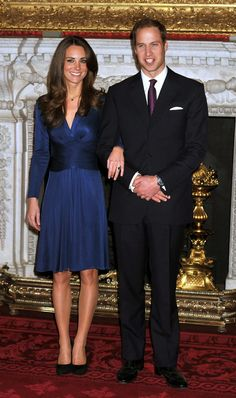 File photo dated 16/11/2010 of the Duke and Duchess of Cambridge during a photocall in the State Apartments of St James's Palace, London to mark their engagement.