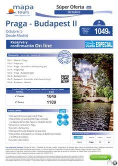 Praga-Budapest II- 5 Oct desde Madrid**Precio final desde 1049** ultimo minuto - http://zocotours.com/praga-budapest-ii-5-oct-desde-madridprecio-final-desde-1049-ultimo-minuto/