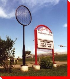 World's Largest Badminton Racket - St. Badminton Racket, Western Canada, Roadside Attractions, World Records, World's Biggest, Alberta Canada, Worlds Largest, Places To Visit, The Incredibles