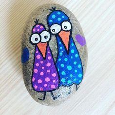 #rockart #rockpainting #stonepainting #myart #art #handmade #creative #paintedstone #craft #stoneart #rockart #paintedrocks #rock #stone #acrylic #posca #acrylicpainting #birds