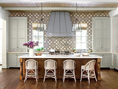 "Hi Sugarplum!: Let's Chat | To Tile or Not to Tile ""Best Kitchen"" by interior designer Chandos Dodson Epley as featured in the August issue of Southern Living. Photo by © Laurey W. Glenn/Southern Living"