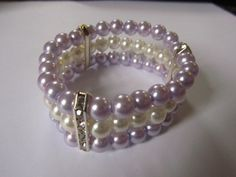 Bespoke Bridal Bracelet Lilac and Ivory by Craftswithchrissie, £9.99