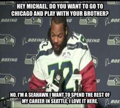 You gotta love how much these guys love being in Seattle