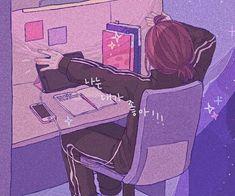 Aesthetic Drawing, Aesthetic Art, Aesthetic Anime, Aesthetic Pictures, Aesthetic Japan, Purple Aesthetic, Japanese Aesthetic, Arte Do Kawaii, Kawaii Art