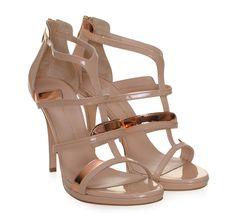 d1dc54cae6f MOURTZI Nude High-heeled Patent Leather Sandals. Γυναικεία ψηλοτάκουνα  πέδιλα από δέρμα λουστρίνι.