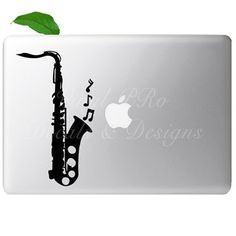 Saxophone Decal for Mac! :)