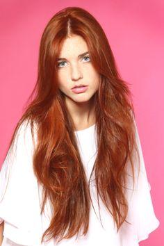 #benniefactor @benniefactor Copper, red, layers, highlights, long hair
