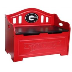 University of Georgia Bulldogs UGA Kids Furniture Storage Toy Bench