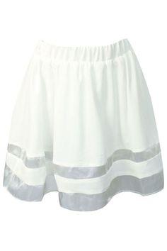 ROMWE | Organza White Puff Skirt, The Latest Street Fashion   #ROMWE