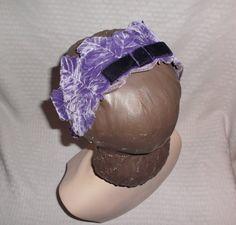 1950s Vintage Purple Velvet Leaf Headband Hat by MyVintageHatShop
