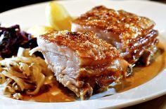 Ribbe, Norwegian pork ribs, are distinct because of the way the rind is prepared. Norwegian Cuisine, Norwegian Food, Pork Recipes, Cooking Recipes, Meatball Recipes, Barbecue Recipes, Cooking Tips, Norway Food, Viking Food