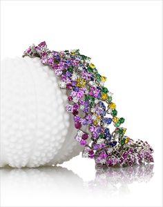 Mark Patterson Sapphires, Rubies, Pink Sapphires, Purple Sapphires, Yellow Sapphires, Tsavorites and Diamonds..... Bracelets