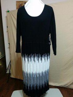 BUY IT NOW! NEW Sweater Dress Empire Waist New Directions Plus Size 2X Retail $120  | eBay