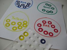 Color sorting with stickers... good opportunity to build children's understanding of sets and numeracy. Add a recording sheet or graph for children to document findings.
