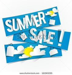 Summer Sale Banners vector illustration - stock vector