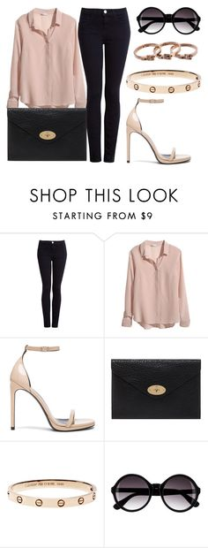 """Untitled #129"" by beautstakingovertheworld ❤ liked on Polyvore featuring Current/Elliott, H&M, Yves Saint Laurent, Mulberry and Michael Kors"