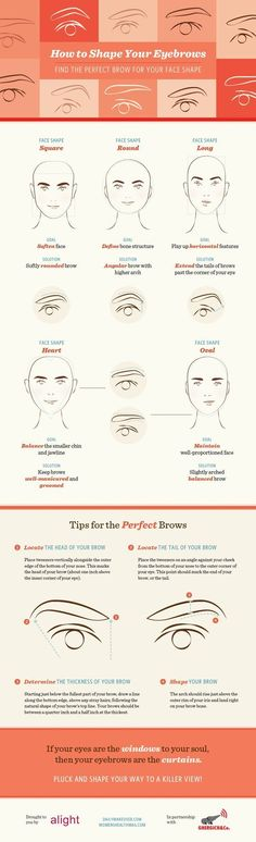 Best Brows for Your Face Shape   Eyebrow Shaping Tutorial - DIY Eyebrow Plucking Tips by Makeup Tutorials at http://makeuptutorials.com/makeup-tutorials-beauty-tips