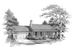 Eplans Farmhouse House Plan - A Petite Ranch-Style Home - 1253 Square Feet and 3 Bedrooms from Eplans - House Plan Code HWEPL04874