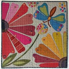 Painted Lady applique quilt pattern by Laura Heine
