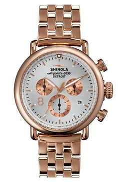 Shinola 'The Runwell Contrast Chrono' Bracelet Watch, 41mm available at #Nordstrom