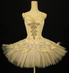 Tutu worn by Vergie Derman as Odette in Acts II and IV of The Royal Ballet production of 'Swan Lake' (1971)