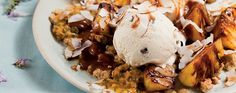 Grilled Pineapple with Rum & Raisin Ice Cream, Crumble & Butterscotch Sauce | Desserts & Baking | Recipes | Woolworths.co.za