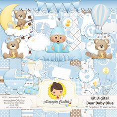 Kit digital Bear Baby Blue Já à venda na loja >>goo.gl/2PnHhc