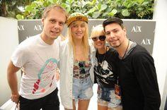 Armin van Buuren, Nervo, & Thomas Gold at the SOL REPUBLIC x Motorla Music Lounge. Omg!